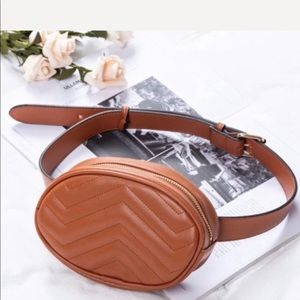 Evolving Always Bags - New Cognac Color Belt Bag Compact & Roomy